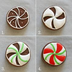 How to do peppermint royal icing