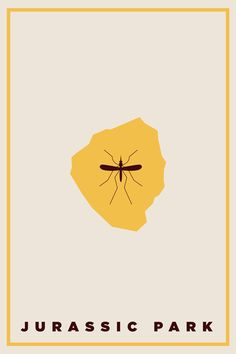 Jurassic Park (1993) ~ Minimal Movie Poster by Alex Brunsen #amusementphile