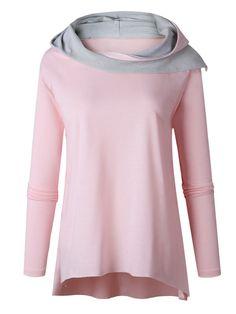 Unregelmäßig Hoodies Mit Modischem Kragen T-Shirt
