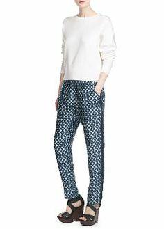 MANGO - NEW - Printed flowy trousers