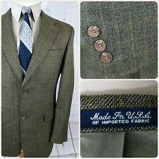 Austin Reed 40r Sport Coat Mens Blazer 2 Button Checks Wool Beige Usa Flaw Sport Coat Austin Reed Short Sleeve Dress Shirt
