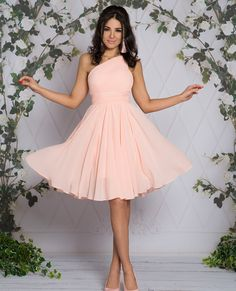 FABIA - Zwiewna midi sukienka na jedno ramie różowa Talia, One Shoulder, Formal Dresses, Style, Fashion, Formal Gowns, Fashion Styles, Formal Dress, Evening Gowns