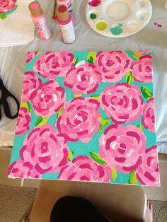 Krafty Kellzster: DIY: Lilly Pulitzer First Impressions Canvas