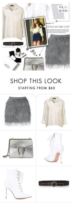 """""""Be your own kind of beautiful ♡"""" by perfectharry ❤ liked on Polyvore featuring Gucci, Gianvito Rossi, H&M and Express"""