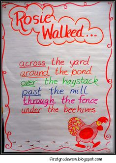 Prepositions First Grade Wow: Understanding Community Through Rosie's Walk and Me on the Map