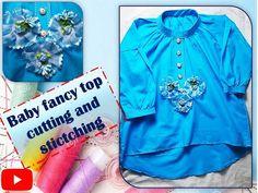 Fancy Tops, Stitching, Peplum, Stylish, Blouse, Youtube, Fabric, Baby, Women