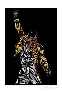 Freddie Mercury Prints at AllPosters.com