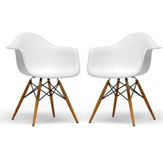 @Overstock.com.com - Retro-classic White Accent Chairs (Set of 2)   $194.99
