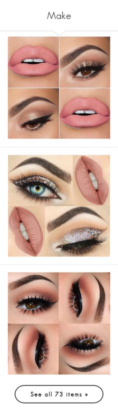 """Make"" by gabriel-sampaiooo on Polyvore featuring beauty products, makeup, lip makeup, eyes, lip, make, lips, beauty, eye makeup e filler"