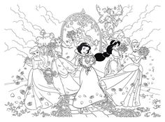 Cinderella Coloring Pages, Lds Coloring Pages, Skull Coloring Pages, Disney Princess Coloring Pages, Disney Princess Colors, Printable Adult Coloring Pages, Cartoon Coloring Pages, Coloring For Kids, Coloring Books
