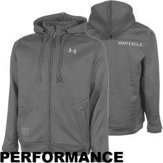 Under Armour Auburn Tigers Lifestyle Full Zip Hoodie Sweatshirt - Gray