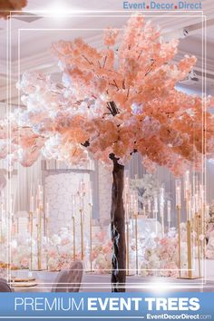 EventDecorDirect.com is the #1 supplier of luxurious faux trees at factory-direct prices. These modular and portable trees come in a variety of styles, sizes and colors. They are ideal for weddings, events, parties, corporate events, home or business decor and so much more. Enjoy FREE SHIPPING on Your Event Tree Order Today! Shop Now at EventDecorDirect.com | Questions? Call Us Today 1-800-914-3538 Tree Centrepiece Wedding, Manzanita Centerpiece, Tree Wedding, Centerpiece Decorations, Flower Centerpieces, Tree Decorations, Cherry Blossom Centerpiece, Wedding Decorations, Fake Hydrangeas