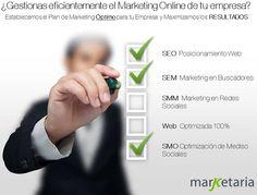 Planes de marketing online y servicios de marketing personalizados: seo, sem, smm, optimización, ...¿cuales son los más apropiados para tu empresa? Consultanos sin compromiso, estamso enfocados al marketing de resultados