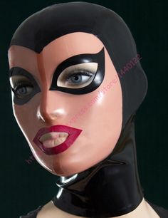 2016 new arrive fashion black And Skin latex hood fetish rubber mask Customize Size Service Customize service