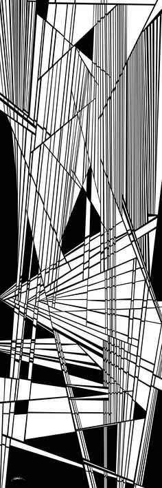 diatribe - dynamic black and white organic abstract, optical obsession by Douglas Christian Larsen - http://fineartamerica.com/featured/diatribe-douglas-christian-larsen.html