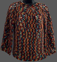 Poncho w/Arm Slits Style 4233 by AfghanWarehouse on Etsy