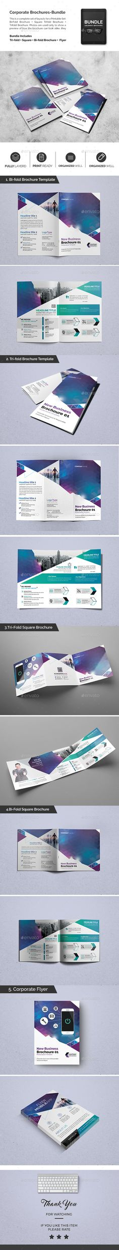 Corporate Brochures Bundle 02  - PSD Template • Only available here ➝ http://graphicriver.net/item/corporate-brochures-bundle-02/16834979?ref=pxcr
