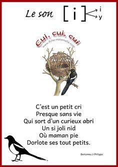 poesie sur le son  i Les sons à la maternelle