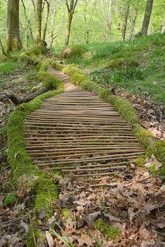 land art · Miss Moss - How do I turn my suburban backyard into this? Garden Paths, Garden Art, Garden Landscaping, Garden Design, Landscape Art, Landscape Architecture, Landscape Design, Land Art, Art Et Nature