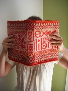 knitted book cover Craftivore