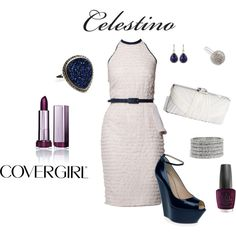 Polyvore Live and COVERGIRL Present Celestino, created by errica-d on Polyvore