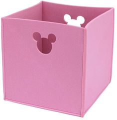 Disney Die Cut Storage Organizer Minnie Plastic Cube or Bin Toy Storage Bench, Toy Storage Bags, Kallax Insert, Minnie Toys, Fabric Bins, Box Cushion, Top Toys, Toy Organization, Garden Toys