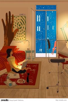 35 Works by American Illustration Artist Themed 'Women Living with Cats' - Frances' Home Art And Illustration, American Illustration, Illustrations And Posters, Pascal Campion, Dark Hunter, Buch Design, Anime Comics, Graphic, Chibi