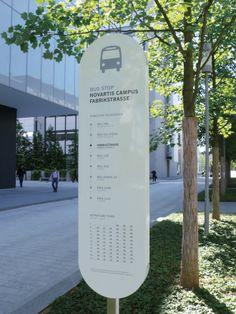 Wayfinding Signage Novartis Campus Basel