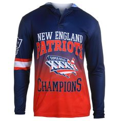 It features a hood for extra flair along with sharp New England Patriots images.