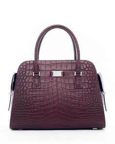 Gia Embossed Satchel Bag by Michael Kors at Neiman Marcus.