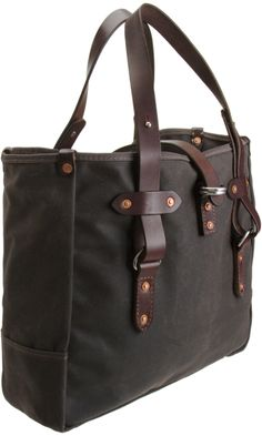 Emil Erwin leather Waxed Canvas Tote