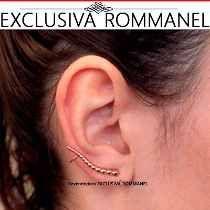 Rommanel Brinco Ear Cuff Formado Por Bolinhas Unidas 525435