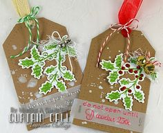 Curtain Call Inspiration Challenge: Christmas Countdown. By design team member Monika Davis.