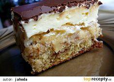 Tvarohovo jablečný moučník recept - TopRecepty.cz Czech Desserts, Vanilla Cake, Nutella, Tiramisu, Banana Bread, Good Food, Food And Drink, Sweets, Cooking