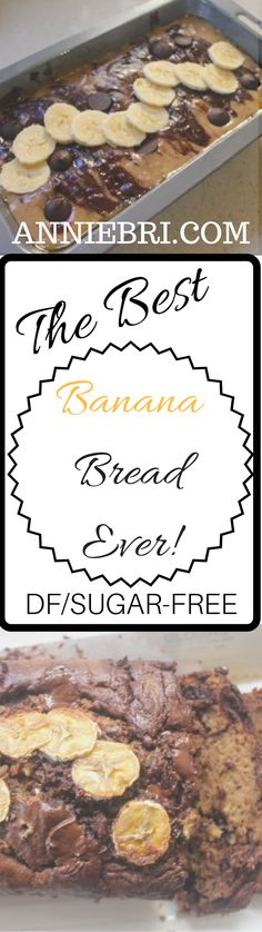 The Best Dairy and Sugar free Choc Chip Banana Bread! Dairy Free Banana Bread, Sugar Free Banana Bread, Sugar Bread, Choc Chip Banana Bread, Best Banana Bread, Banana Bread Recipes, Sin Gluten, My Favorite Food, Favorite Recipes