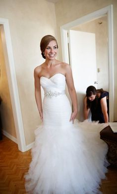 Tulle Fit and Flare Wedding Dress | Watters.com