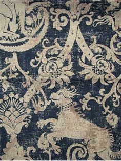 Gorgeous griffin fabric, only $18.95/yd! How would it look on my english roll arm chairs, I wonder...