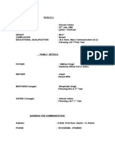 Biodata Format for Marriage Biodata Format Download, Resume Format Download, Marriage Biodata Format, Bio Data For Marriage, Technical University, Information And Communications Technology, Medical College, Marital Status, Life Partners