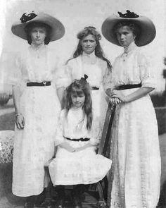 Grand Duchesses Tatiana, Maria, Olga and Anastasia by anastasia_romanova_5 from Instagram