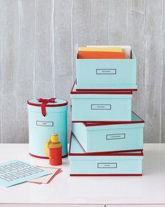 Cajas de almacenaje con estilo con las etiquetas..click para link descarga etiquetas