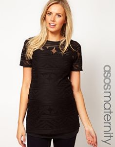 Enlarge ASOS Maternity Crochet Tunic