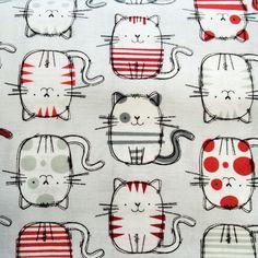 ¿A quien no le gustan los gatos? Tela de patchwork gatos modernos de Jan et Jul