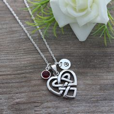 Anniversary gift, Celtic Heart Pendant, Irish Jewelry, Celtic knot Sterling Silver, Most Popular Heart Celtic knot love, Celtic Jewelry on Etsy, $39.80