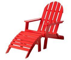 Röd adirondackstol