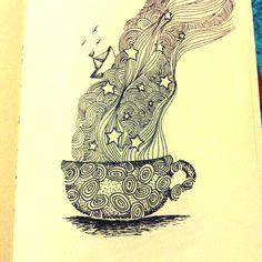 "Moleskine art ""Tea lovers"" by Cris H."