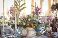 Detalhes da mesa dos convidados  - Casamento no Campo