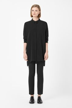 Long silk shirt: I love this dress, it's so easy to wear and really versatile