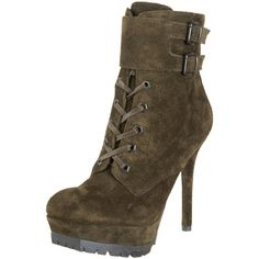 Olive suede military boots, want!!