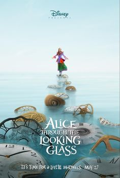 Disney released two teaser posters for the Alice in Wonderland sequel, Alice Through the Looking Glass. The new posters feature Johnny Depp as the Mad Hatter and Mia Wasikowska as Alice. Mia Wasikowska, New Movies, Disney Movies, Movies To Watch, Good Movies, 2016 Movies, Movies Online, Latest Movies, Awesome Movies