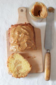 caramel latte lOaf cake